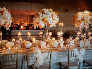 Opulent wedding reception