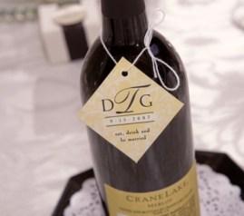 Personalized bottle of wine