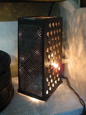 Cheese graters lanterns - From Younghouselove.com