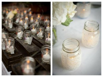 Tea-lights and mason jars