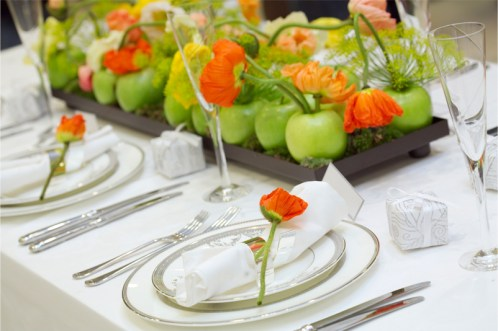Apple fruit centerpieces