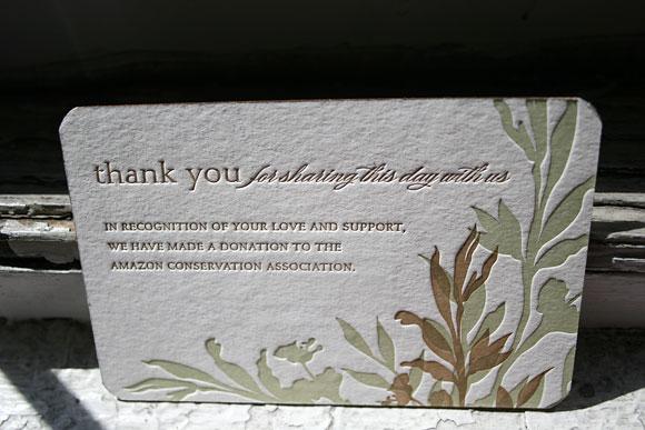 Favor card from Elizabeth Ann Design
