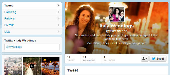 Exclusive Italy Twitter Profile