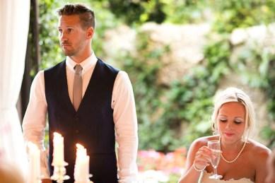Bride and groom at Villa Eva