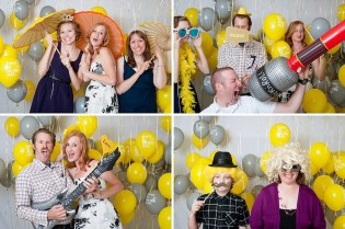 Balloon photo booth