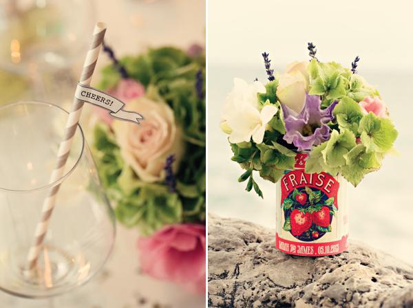 Fifties style wedding on the Amalfi Coast - Flower Decorations