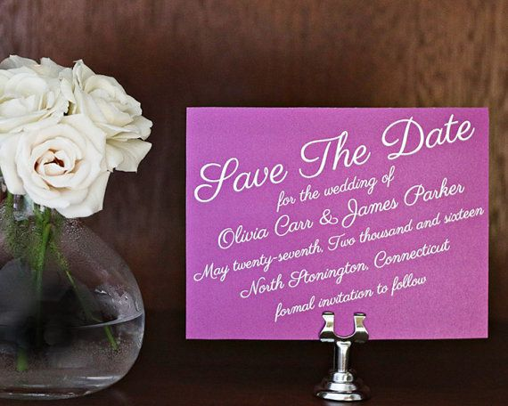 save the date radiant orchid