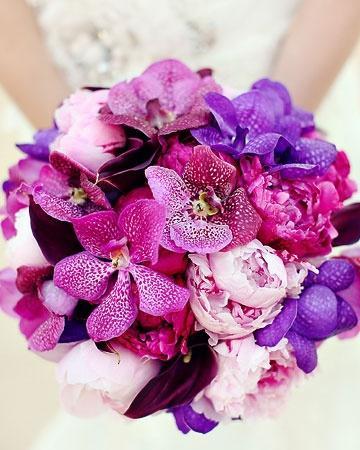radiant orchid bouquet