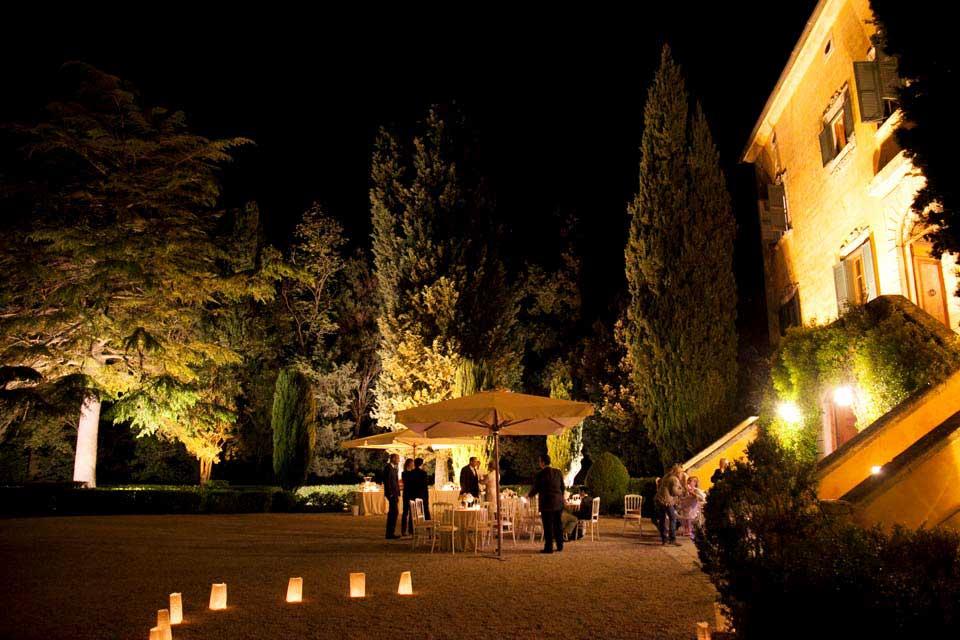 Villa di Ulignano by night