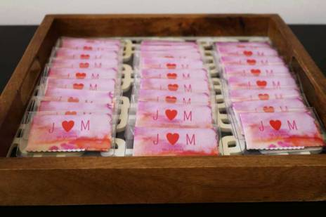 Microfiber cloths used as wedding favors