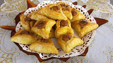 """""""Hamantaschen"""" are the traditional sweets for the holiday of Purim."""