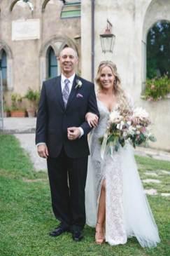 Bride and father at Amalfi coast wedding