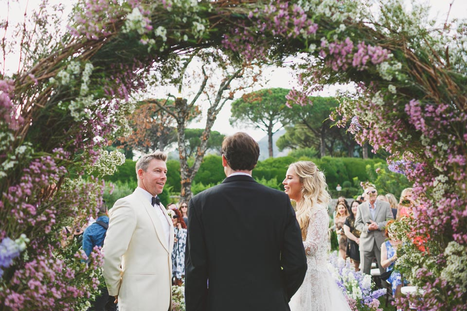 Outdoor ceremony in Ravello