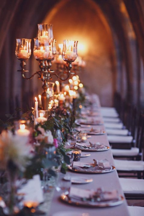 Elegant tablescape for wedding banquet in Ravello