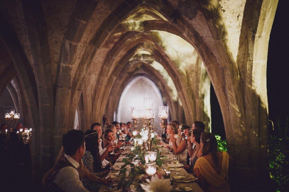 Candlelit wedding banquet on the Amalfi Coast