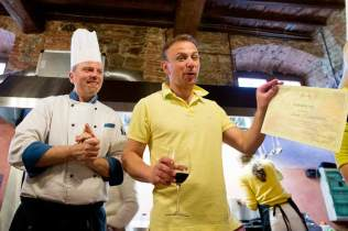 Diploma for cooking class in Tuscany