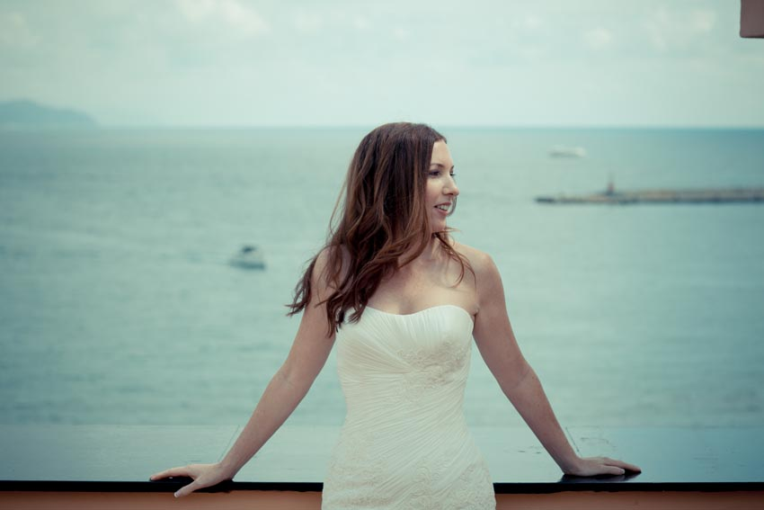 Portrait of the bride in Santa Margherita Ligure