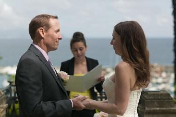 Outdoor civil wedding in Italy