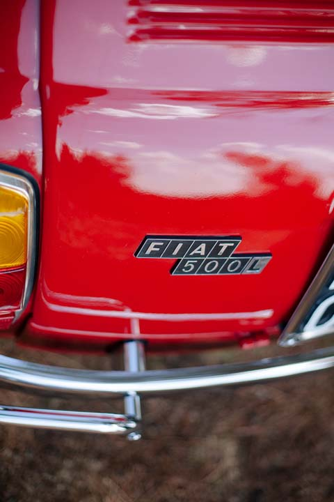 Vintage Fiat 500 car