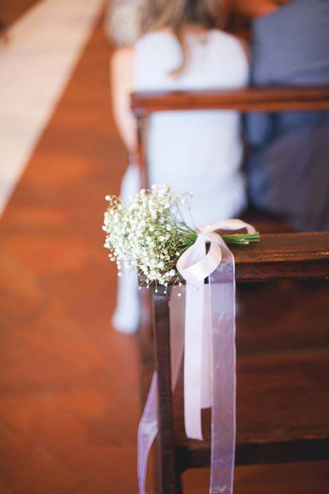 Aisle decorations for Tuscan church
