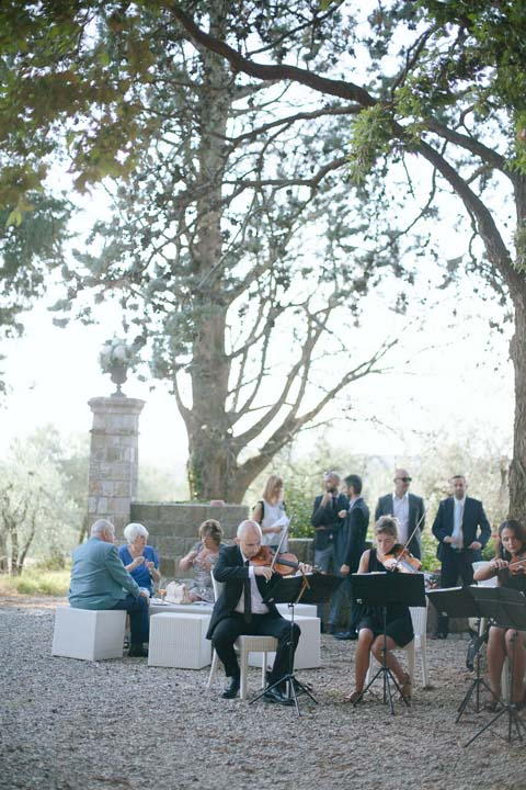 Musicians for Wedding Cocktail in Tuscany