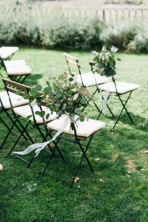 Ceremony setting for Tuscany wedding