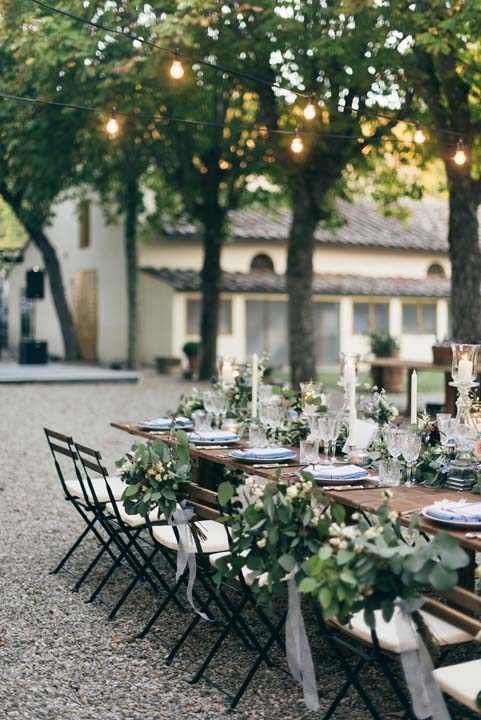 Long table for wedding banquet