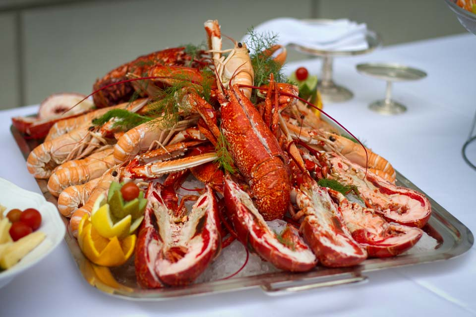 Swedish lobsters for wedding banquet in Florence