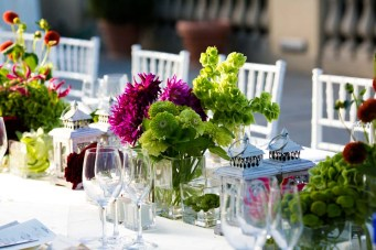 Colorful decoration for long table