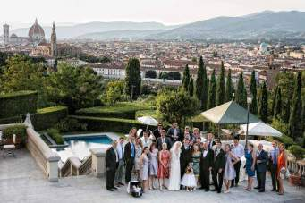 Wedding reception at Villa La Vedetta in Florence