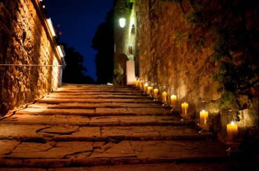 Candle lighting for the entrance of the castle
