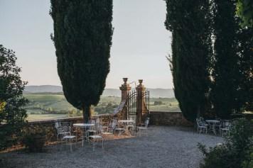 Gardens and panorama of Tuscany