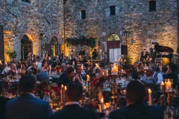 Wedding reception at Castle Modanella