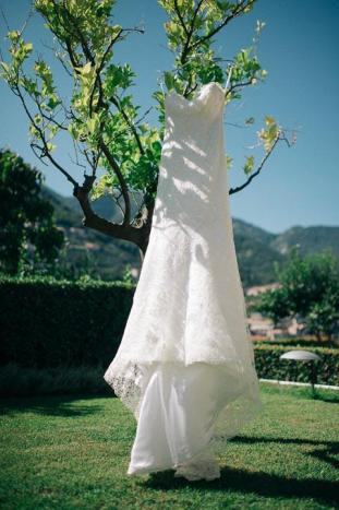 Bridal gown for Ravello wedding