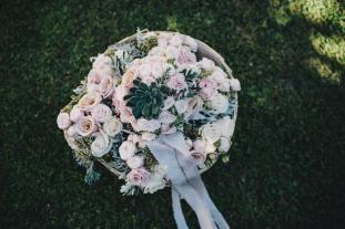 Flowers for wedding ceremony in Ravello