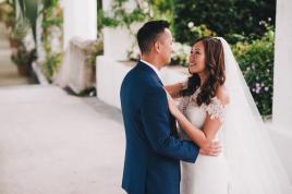 Bridal couple at Hotel Caruso wedding
