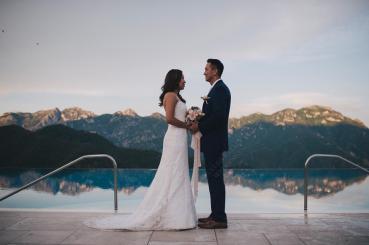 Bridal couple at Amalfi Coast wedding