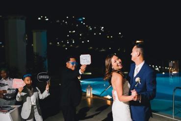 Ravello outdoor wedding party