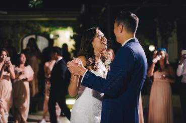 First dance for bride and groom at Ravello wedding