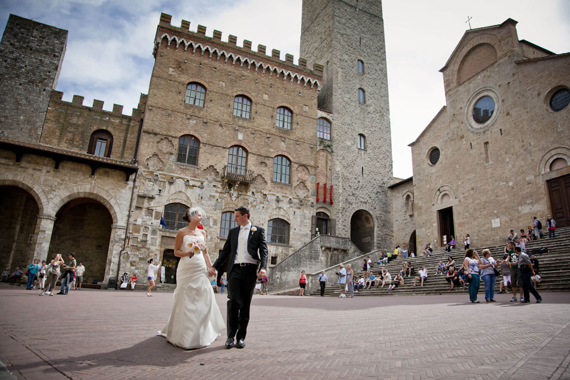Wedding in Tuscany in San Gimignano