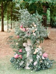Pastel decoration for wedding ceremony