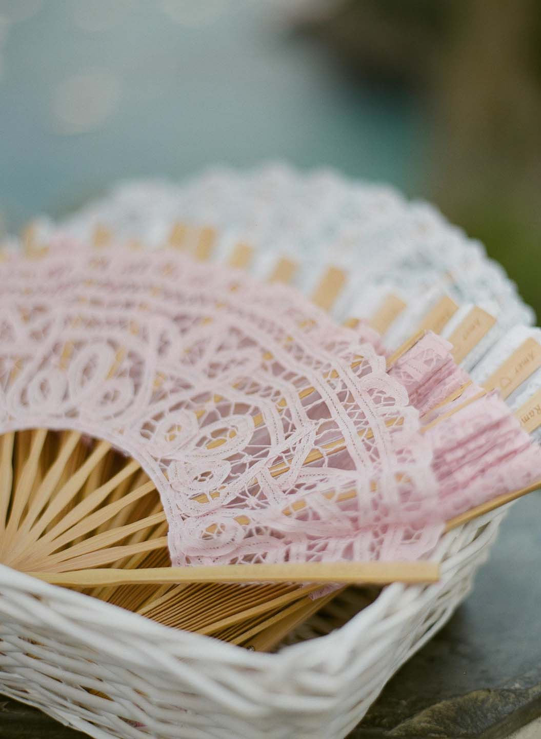 lace fans for wedding