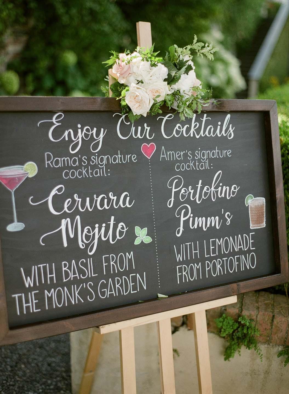 signature cocktail sign