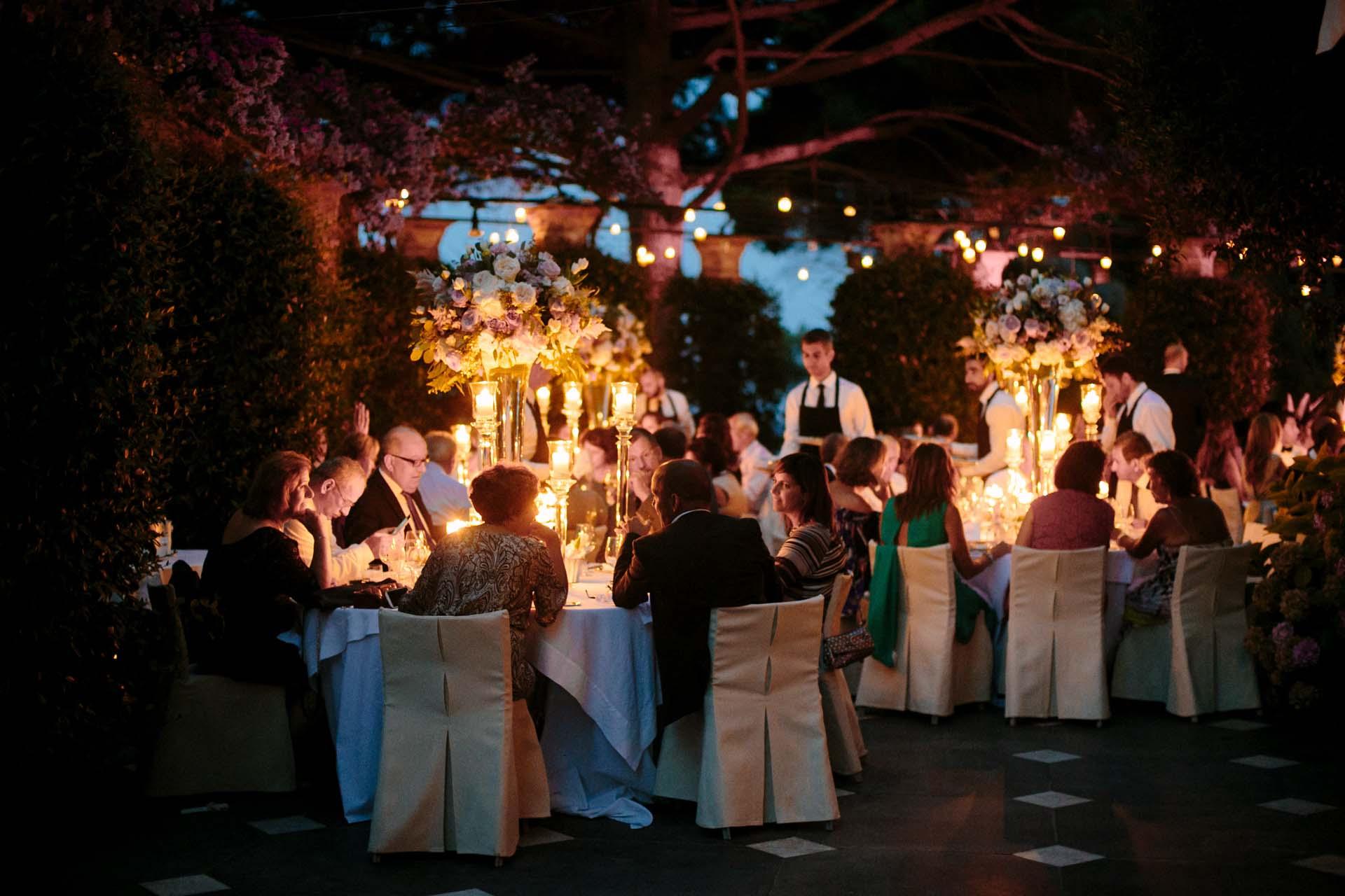 wedding reception in Portofino