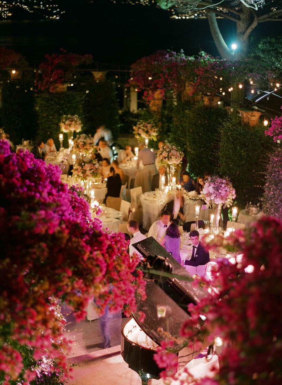 outdoor wedding banquet