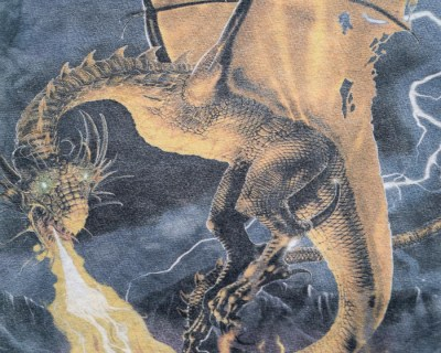 TEE SHIRT – THE MOUNTAIN – TIE AND DIE DRAGON – Size S