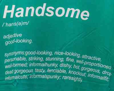 T-SHIRT -SPLASH – HANDSOME DEFINITION – Size L