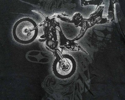 T-SHIRT – NO FEAR	– MOTOCROSS PRINT – Size XS