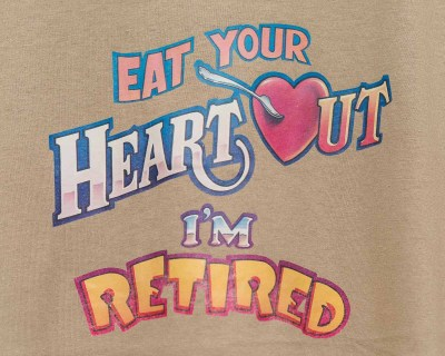T-SHIRT – FRUIT OF THE LOOM – HEART OUT – Size L