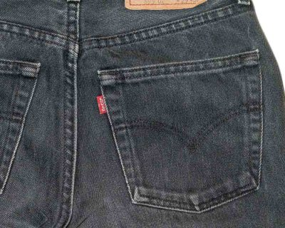 PANTS – LEVI'S – 592 WASHED BLACK THICK – Size XS